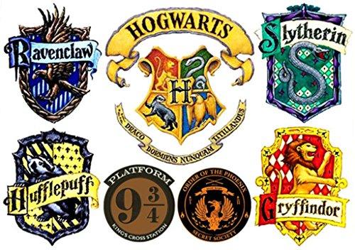 Harry Potter Hogwarts Set of 7 Temporary Tattoos -