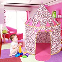 KINDEN Cute Play Tent 100% Cotton Playhouse for Children Kids Gift, Quick Setup and Save Room