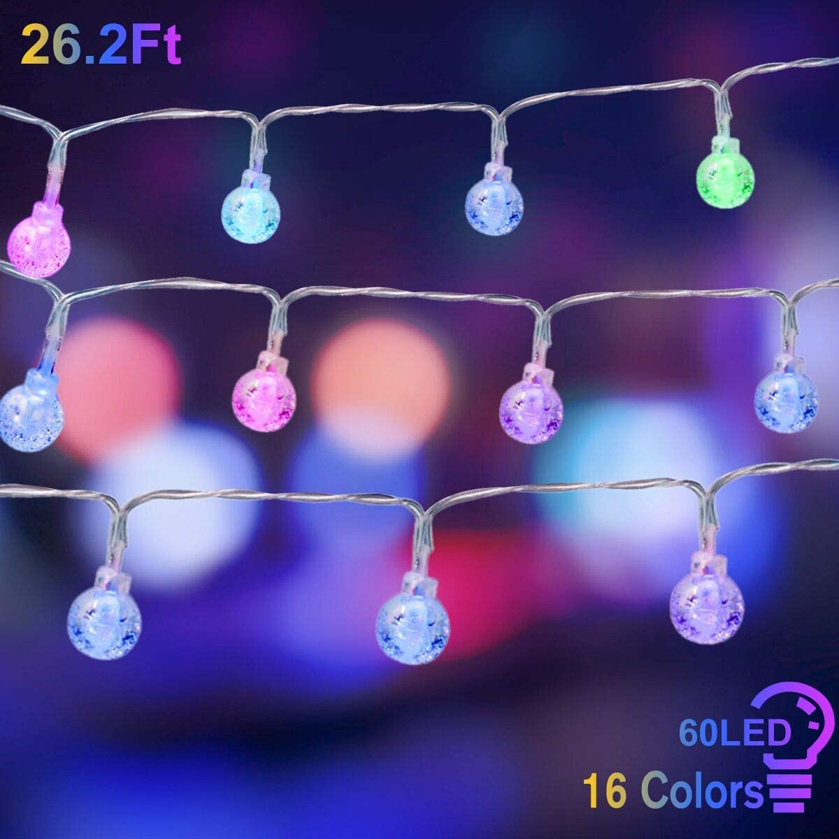 Cosumina Indoor String Light Battery Powered Twinkle Lights with Remote for Bedroom Wedding Garden Party Decorative Lighting Christmas Light Holiday Decoration 26.2Ft