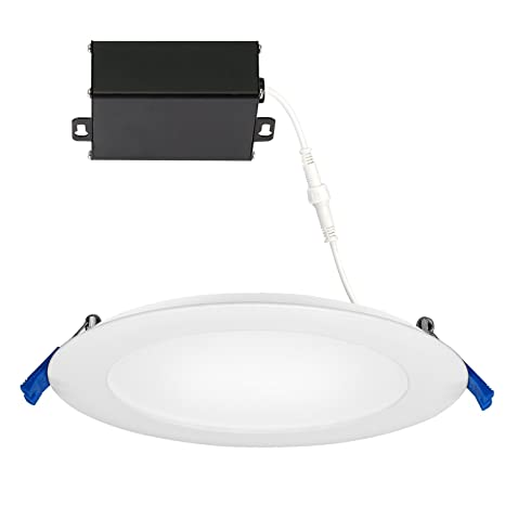 lowest price 99ec7 7b425 GetInLight Slim Dimmable 6 Inch LED Recessed Lighting, Round Ceiling Panel,  Junction Box Included, 4000K(Bright White), 12W(60W Equivalent), 900lm, ...