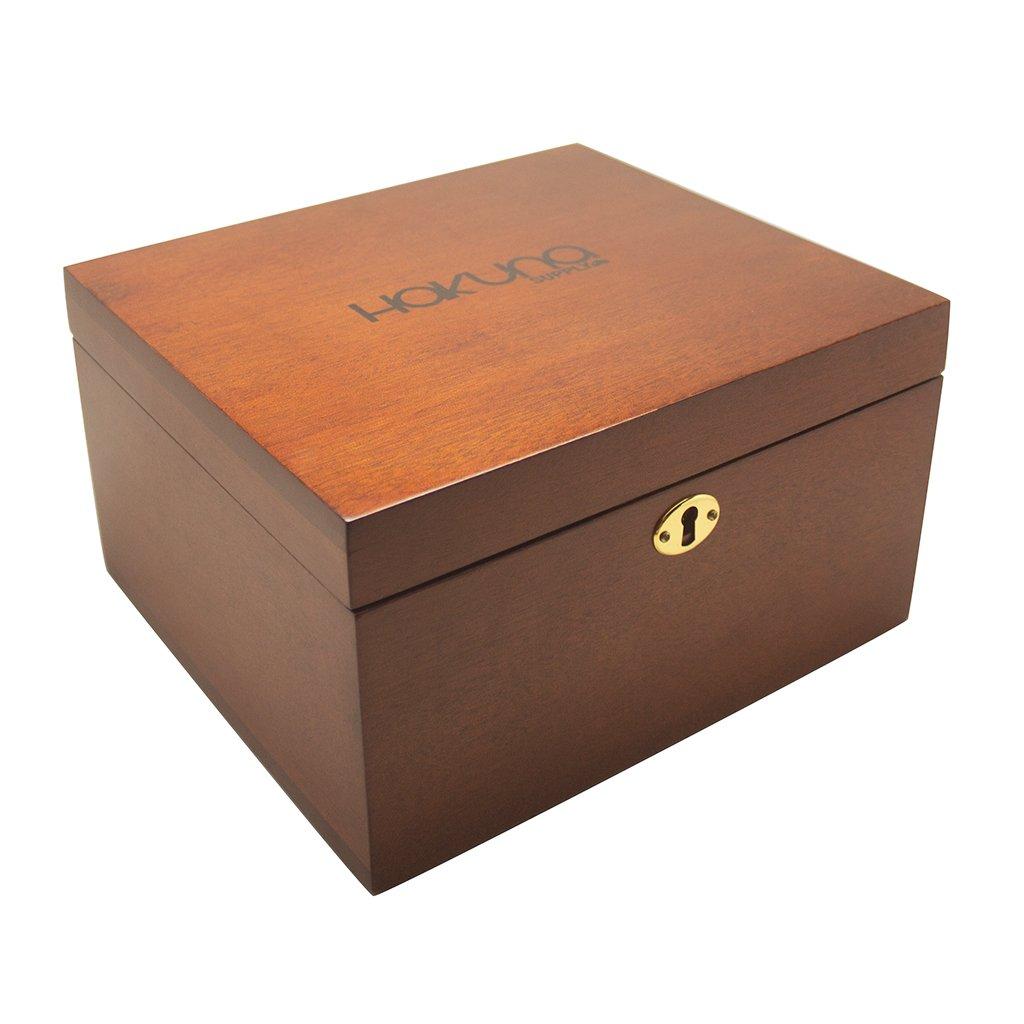 Hakuna Signature XL Lock Box (Mahogany) by Hakuna Supply
