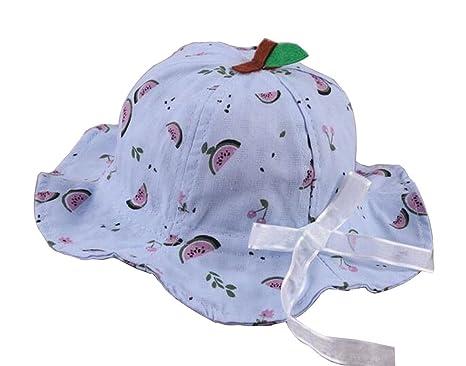 sandía-2] Sombrero del sol de las niñas Sombrero del cubo de ...