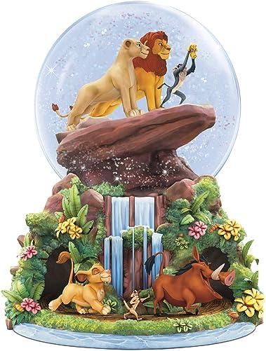 Disney Bradford Exchange Lion King Musical Glitter Globe – Simba Nala Rafiki