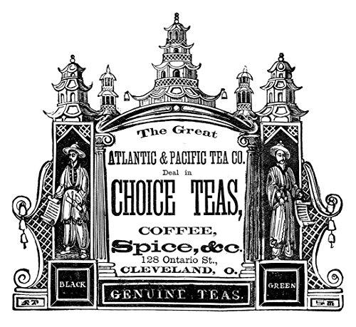 Fusible Decal - Vintage Tea Label Design (1 pc) 3-1/2