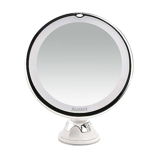 22 opinioni per Auxent Specchio per Trucco Illuminato con Luci LED, Ventosa, Ingradimento 7X,