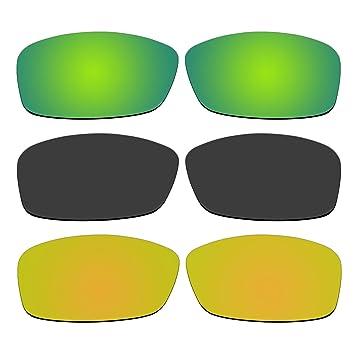 aCompatible 3 Pares de Lentes polarizadas de Repuesto para Gafas de Sol Oakley Hijinx P29