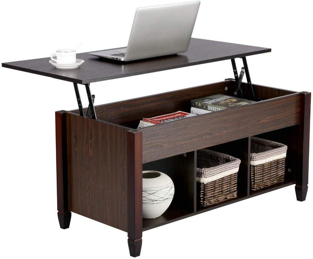 - Amazon.com: VNAURRY Lift Top Coffee Table With Hidden Storage