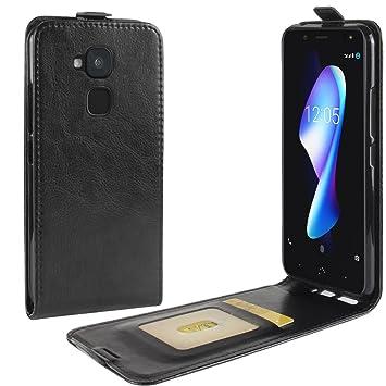 Nadakin BQ Aquaris V Plus Calidad Premium Cartera de Cuero con Carcasa de Teléfono Up and Down Retro Flip Funda con Soporte Magnetico de Cierre para ...