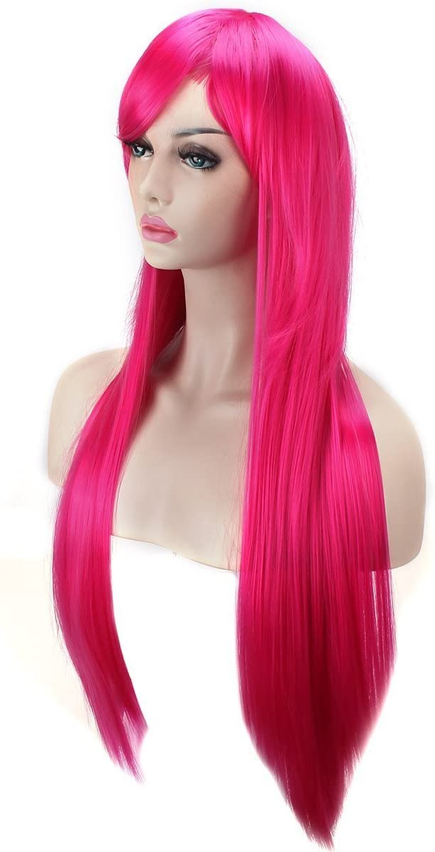 Black AKStore Wigs 32 80cm Long Straight Anime Fashion Womens Cosplay Wig With Free Wig Cap