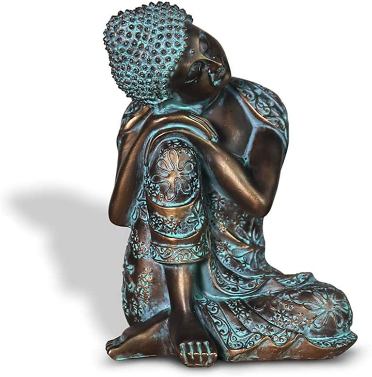 Resin Zen Sleeping Buddha Statue Crafts Chinese Style Old Living Room Decor Creative Character Decoration Gift Home Garden Decor Ornament