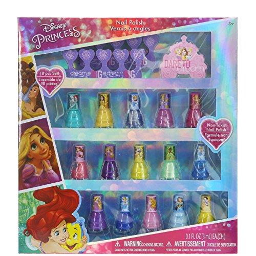 TownleyGirl Disney Princess Nail Polish Set, 18 Ct (7 Day Nail Polish)