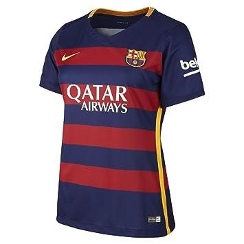 Nike 1ª Equipación Fútbol Club Barcelona 2015/2016 - Camiseta Oficial Mujer, Color Azul