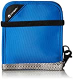 Pacsafe RFIDsafe V100 Anti-Theft RFID Blocking Bi-Fold Wallet, Blue