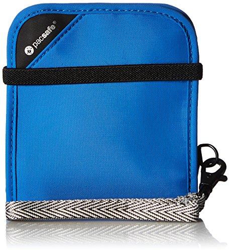 Pacsafe RFIDsafe V100 Anti-Theft RFID Blocking Bi-Fold Wallet, Blue by Pacsafe