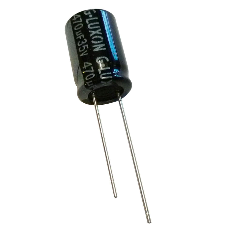 2x 470uF 35V Radial Electrolí tico Condensador 105C G.Luxon