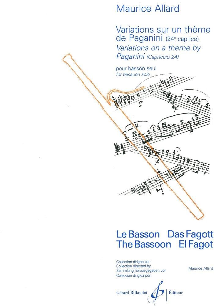 Variations Sur un Thème de Paganini - 24e Caprice Broché – 1 janvier 2000 Allard Maurice Billaudot B003JYOLZ4 G3873B