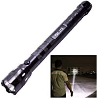Aryshaa Metal Aluminium Alloy Body Handheld Flashlight LED Police Torch, Box Pack , 21 cm , Multicolour