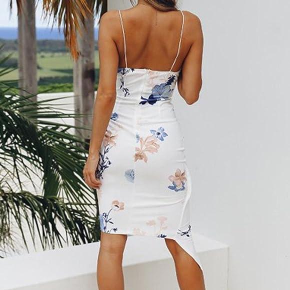 3862e6368 VENMO Vestidos Vestidos Mujer, Fiesta Cortos de V culleo Mujer,Vestido de Playa  Camisola sin Mangas de impresión Sexy de Las Nalgas para Mujeres
