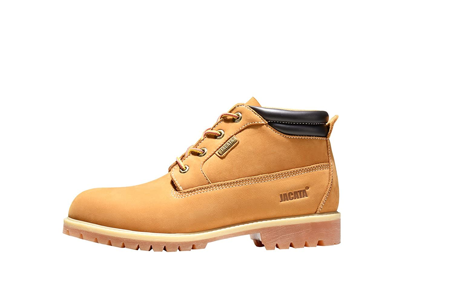 Jacata Mens Work Boots Water Resistant Boots Heavy Duty Natural Rubber Blend Soles