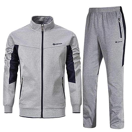 962cac3d187ec Men's Tracksuit Set 2 Piece Athletic Sports Casual Full Zip Active wear  Sweatsuit
