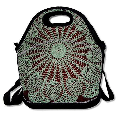 Pineapple Mint Doily Polyester Lunch Bag Fashion Lunch Tote For Boys