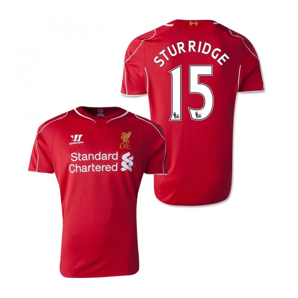 cd60ed5c4 Warrior Sports 2014-15 Liverpool Home Football Soccer T-Shirt Jersey  (Daniel Sturridge 15) Misc.