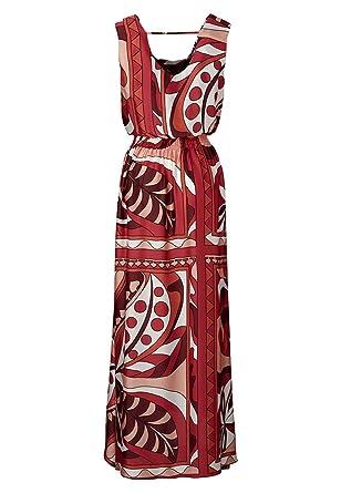 113c2de3d23f APART Fashion-Satinkleid, Farbe rot-multicolor, Gr. 38  Amazon.de ...