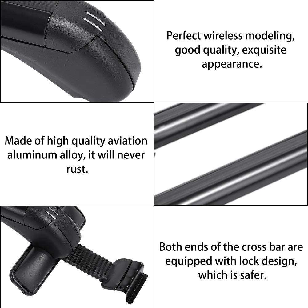 portabagagli universale in alluminio per auto Portapacchi portapacchi con 2 chiavi Barre trasversali portapacchi
