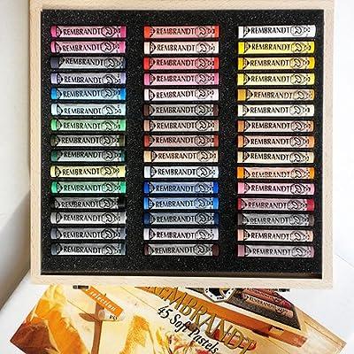 Rembrandt Pastel Set- 45 Piece Full Stick Portrait Assortment (Wood Box)