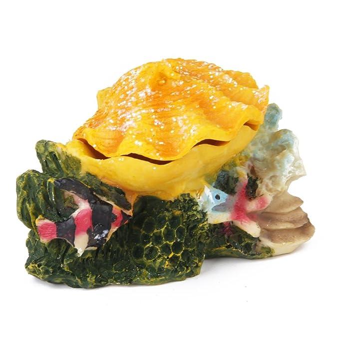 Amazon.com : WINOMO Aquarium Ornament Fish Tank Bubbling Shell Rock Decoration (Yellow) : Pet Supplies