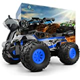 GizmoVine RC Car hobby, 1/18 Scale Truggy with 2.4GHz Remote control off road car monster truck for Kids and Adults(Blue)
