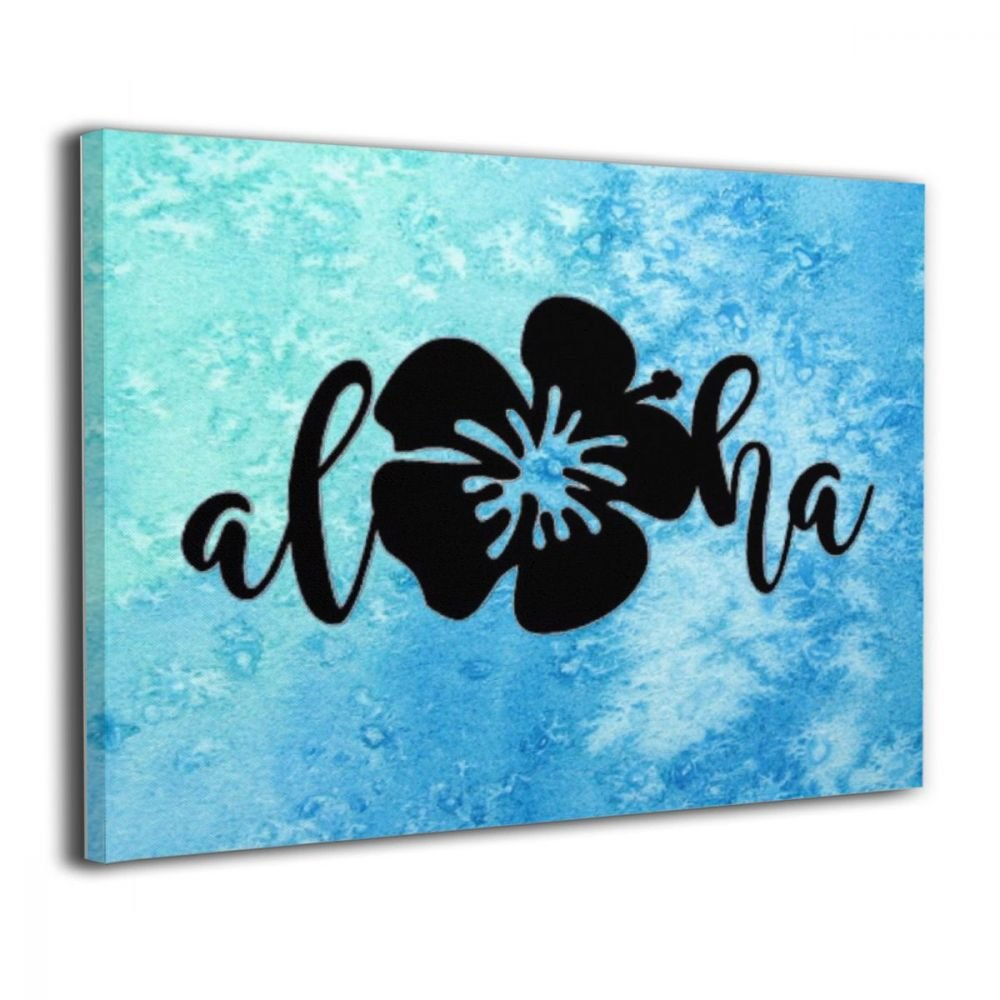 TRdY Page Aloha Pineapple Painted Canvas Inner Framed Wall Decor Modern Artwork for Office Home Decor Pictures Ready to Hang for Living Room Bathroom