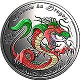 2012 BJ Modern Commemorative DRAGON Lunar Year Chinese Zodiac 0.5 Oz Silver Coin 500 Francs Benin 2012 Proof