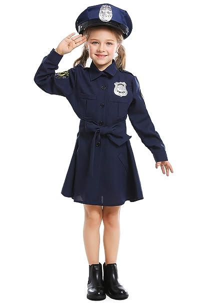 Amazon.com: Disfraz de oficial de policía para niños de 3 a ...