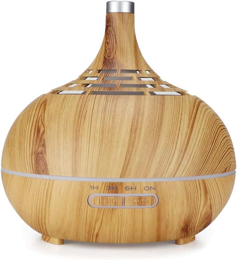 Essential Oil Diffuser, 400Ml Wood Grain Humidifier Hollow