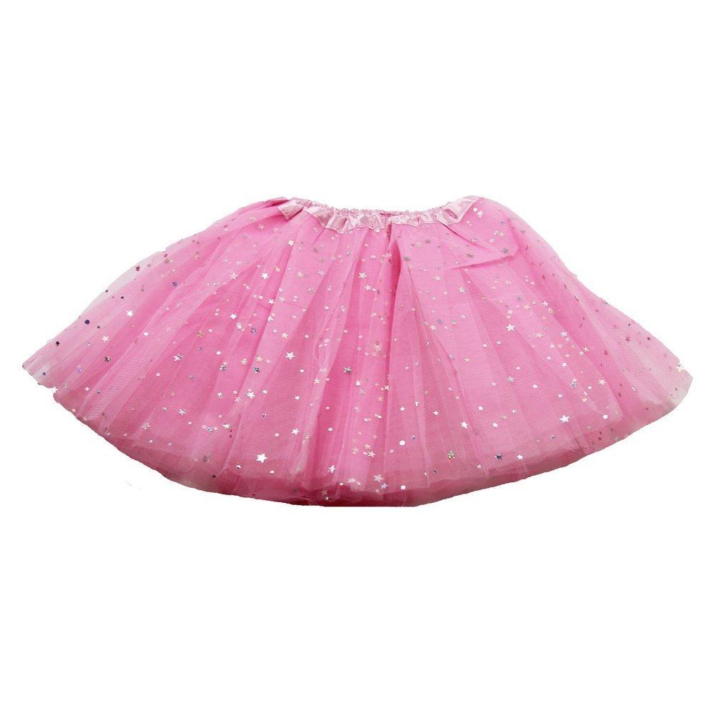 Little Girls Light Pink Sequin Satin Elastic Waist Ballet Tutu Skirt 2-8Y Dress Up Dreams Boutique