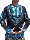 Product review for Raan Pah Muang Open Collar Long Sleeve African Dashiki Print Dance to Afrika Shirt