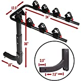 """Swing Away Hitch Mount Bike Rack for 4 Bikes - Fits 2"""" Receivers ONLY"""
