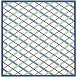 Safavieh Safavieh Kids Collection SFK224A Handmade Ivory and Blue Cotton Square Area Rug, 6 feet Square (6' Square)