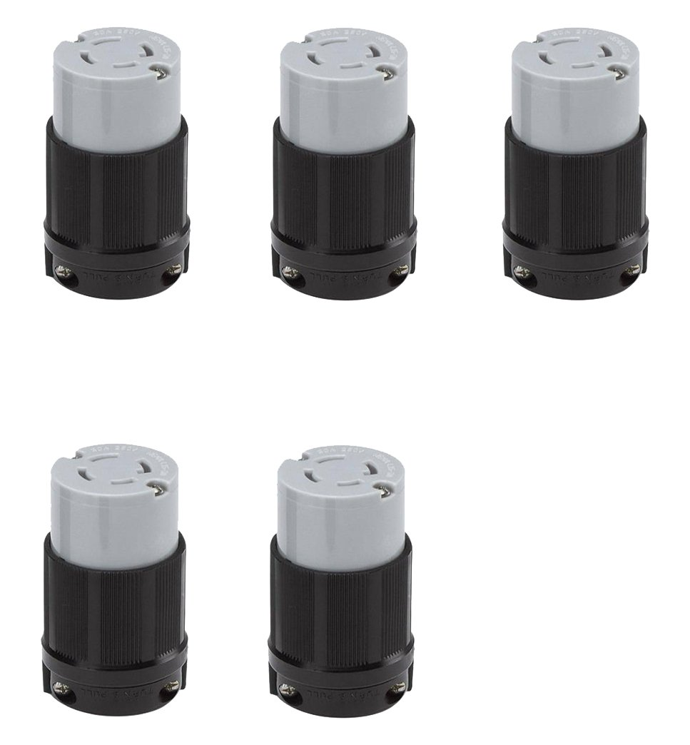 cUL Listed Pack of 2 Rated for 30A OCSParts L15-30R L15-30R Locking Connector 250V