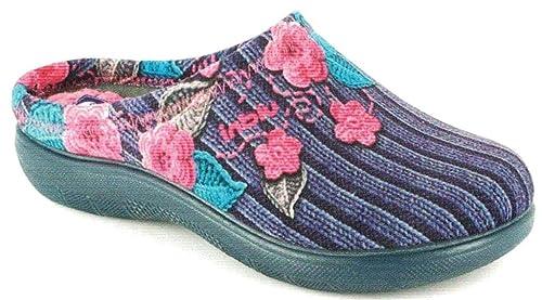 INBLU Pantofole Ciabatte Invernali da Donna Art. EC-21 Blu  Amazon ... 1576ecd9905
