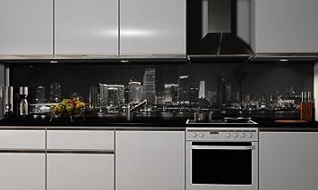 Küchenrückwand-Folie selbstklebend | Skylines | Klebefolie in verschiedenen  Größen | Fliesenspiegel | Dekofolie | Spritzschutz | Küche | Möbel-Folie