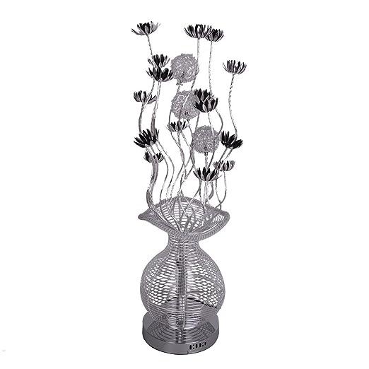 Modern Elegant Silver & Black Aluminium Metal Vase Flowers Design ...