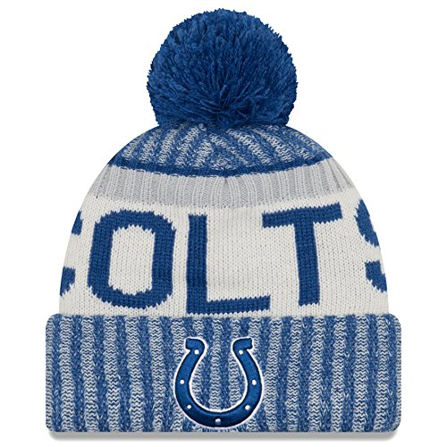 Colts Knit Hats - New Era Indianapolis Colts NFL Sideline On Field 2017 Sport Knit Beanie Beany