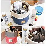 Aoesila Women Multifunctional Toiletry Bags Round Organizer Storage Makeup Pocket