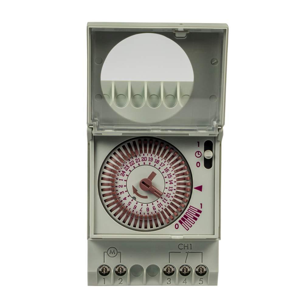 Grässlin Talento 111 Mini Interruptor Horario Analógico, Blanco: Amazon.es: Industria, empresas y ciencia