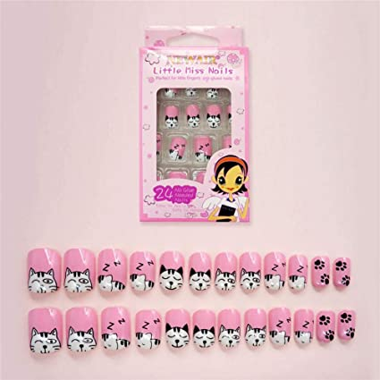 Amazon.com: Geometry Nail Art Tip ABS False Nails Perfect Length Full Cover Beauty Art Decoration Manicure for Women Teens Girls 24 Pcs(C27): Beauty