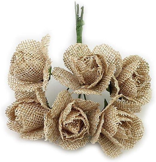 DIY Crafts Flower Pattern Natural Wood Ornament Embellishment Scrapbooking Rose