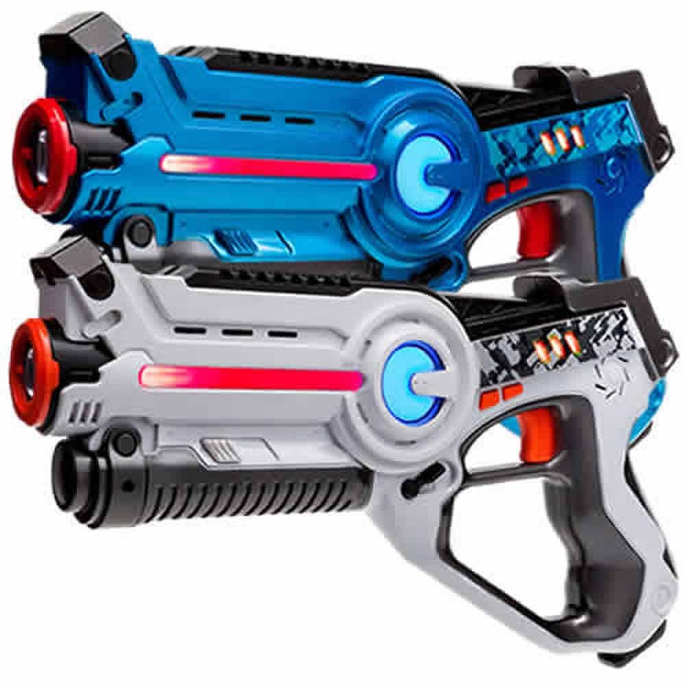 Laser Tag Set Light Battle Active: 1x Spielzeugpistole Blau, 1x Lasertag Pistole Weiß - LBAP10234
