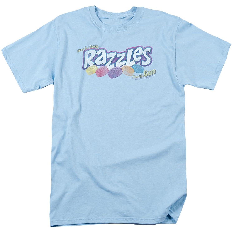 Dubble Bubble Razzles Nostalgic Candy Distressed Logo Adult T-Shirt Tee